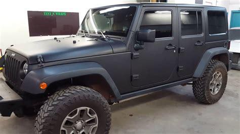 matte black jeep jeep rubicon matte black vinyl wrap youtube