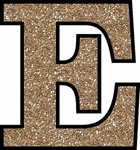 free glitter alphabet to download and print With big gold glitter letters