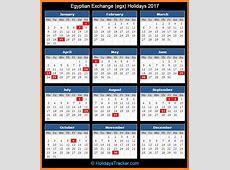 Egyptian Exchange EGX Holidays 2017 – Holidays Tracker
