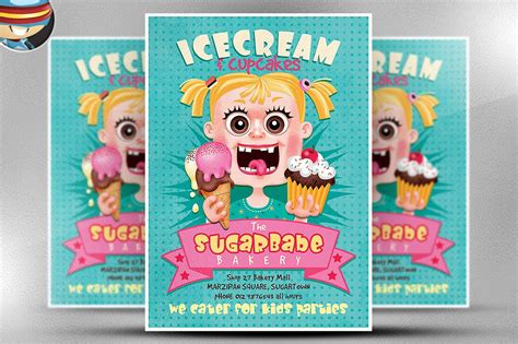 ice cream cup cakes flyer template flyer templates