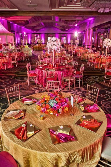 orange and pink set up beautiful stage decor idea for a