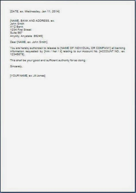 Authorization Letter In Bank Authorization Letter Format For Birth Certificate Authorization by Authorization Letter For Bank Statement Format