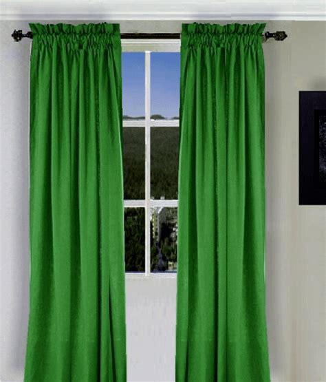 Kelly Green Long Curtain Set