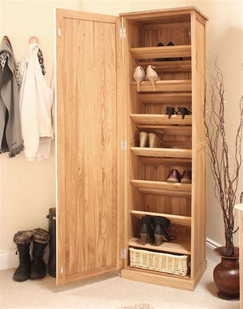 Shoes Cupboard by Mobel Solid Oak Shoe Cupboard Hallway Storage