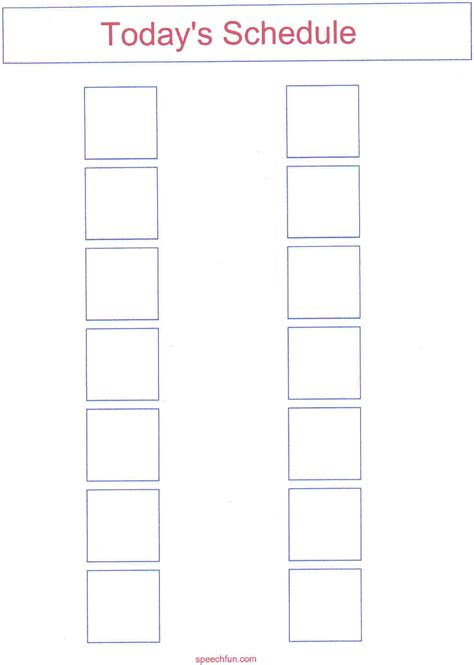 Tier 2 Supports Checklist Template by Visual Schedule Template Schedule Template Free