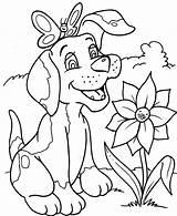 Honden Kleurplaat Kleurplaten Dieren sketch template
