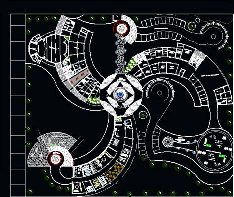 Recreation Complex 2D DWG Design Full Project for AutoCAD