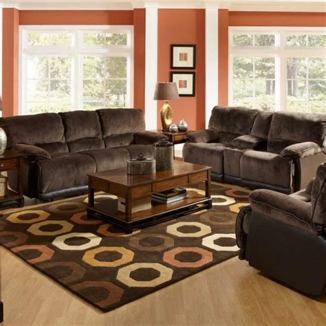 brown sofa living room decor spacious living room design with red wall color and brown
