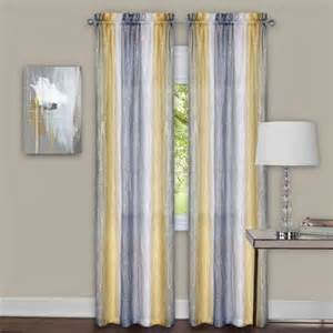 sacada crushed gray and yellow ombre curtains