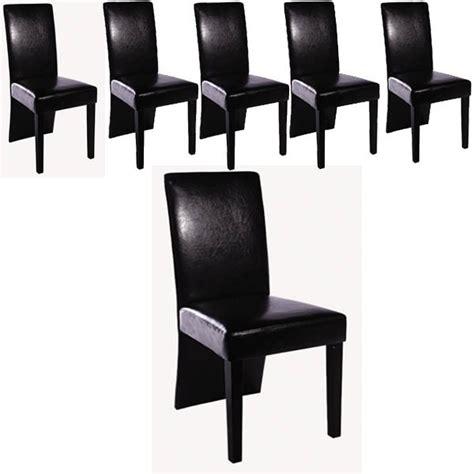 lot de 8 chaises pas cher ensemble de 6 chaises simili cuir noir pour toutes nos