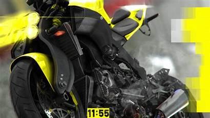 Retro Neo Colors Motorcycle Computer Strip