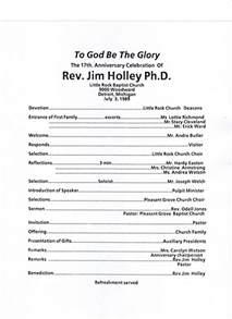 Church Anniversary Program Outline