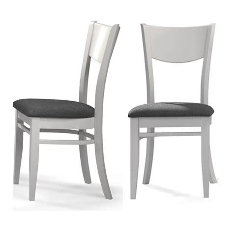 chaise blanche et grise chaise blanc et tissu gris lot de 2 chaise topkoo
