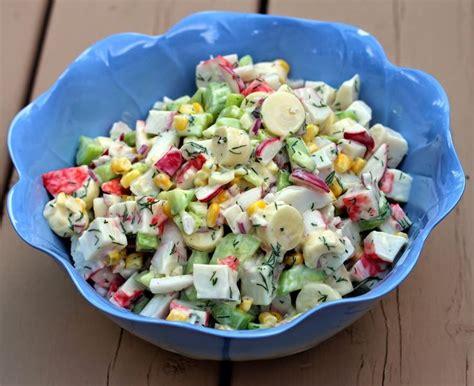 cuisiner le crabe 17 meilleures idées à propos de imitation salade au crabe