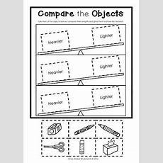 Weight Worksheets Non Standard Measurement  Kindergarten Grade One Students