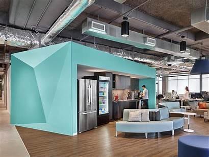 Bazaarvoice Office Austin Headquarters Cafe Modern Kitchenette