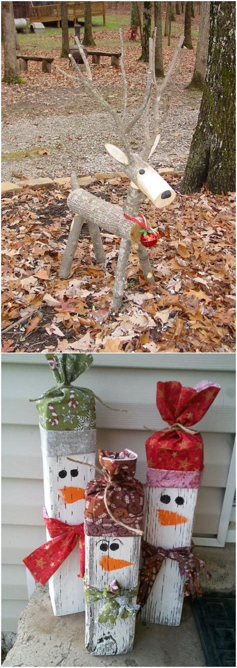 diy outdoor wooden christmas decorations these wooden diy outdoor winter and christmas decorations are adorable i love the reindeer i