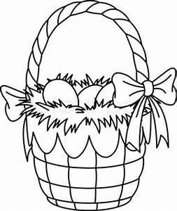 Easter Bunny Painting Eggs Ausmalbilder Stock Vektor