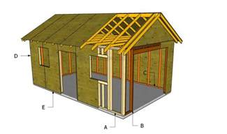 a frame house plans with garage how to build a detached garage howtospecialist how to build step by step diy plans