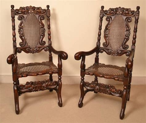 vintage set of eight carolean style oak dining chairs for