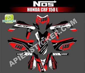 Striping Motor Honda Crf 150l Hitam Merah