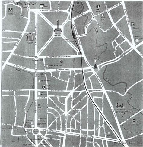 jakarta city center map jakarta indonesia mappery
