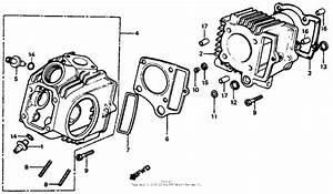 Cylinder   Cylinder Head For 1982 Honda C70 C70  Cub