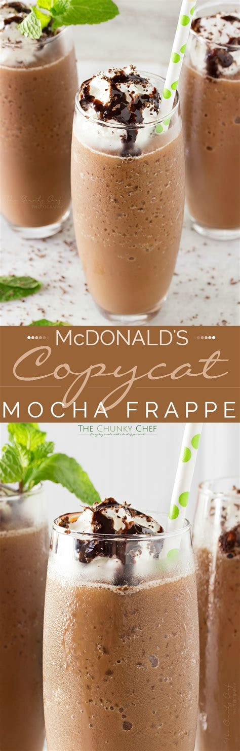 You will need a blender that is how do you actually make it? Copycat Mocha Frappe - The Chunky Chef