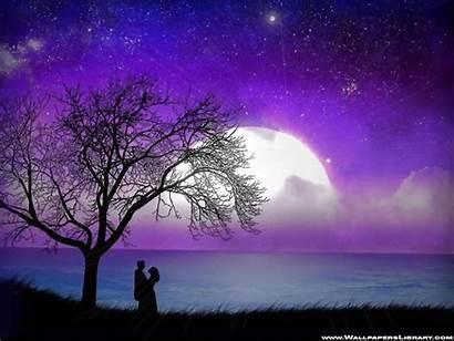 Romantic Moonlight Wallpapers Moon Purple Lover Landscape