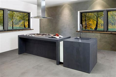 cuisine en béton ciré béton ciré résine cuisine salle de bain salon