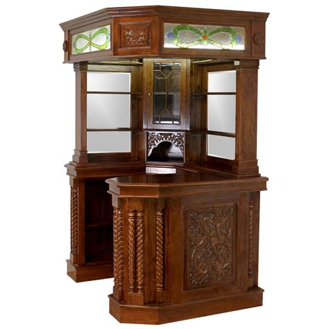 Corner Bar Furniture For The Home by Corner Home Bar Furniture Solid Mahogany With