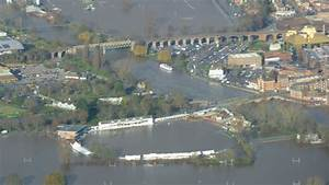 Bbc news in pictures aerial shots of flooding on the