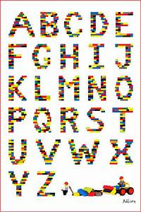 simple alphabet chart would be cool to actually make lego With letters making pictures