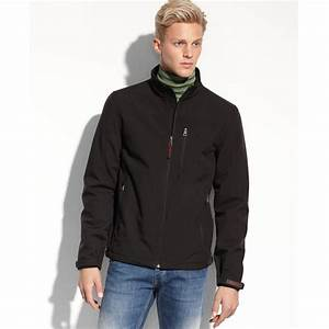 Guess Soft Shell Active Jacket in Black for Men | Lyst