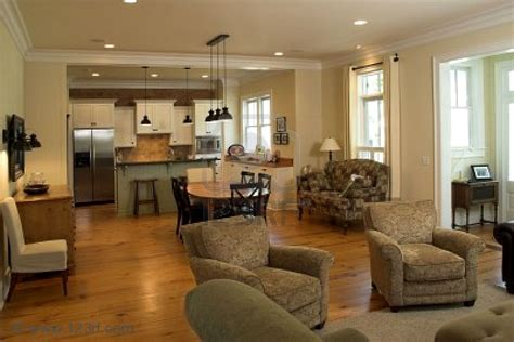 Kitchen Living Room Open Floor Plan Pictures by Open Kitchen Floor Plans For Spacious Look Designoursign