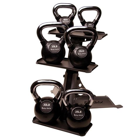 kettlebell rack kettlebells solid handle chrome body kettle bell tier