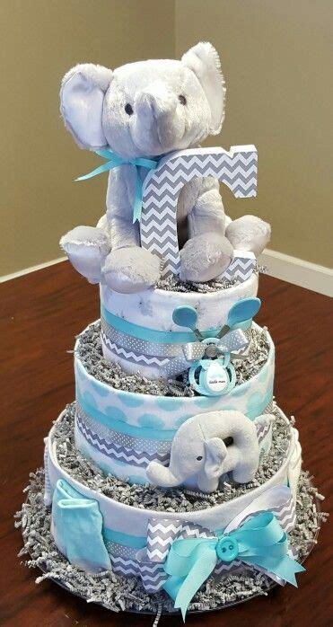 diy baby boy shower ideas elephant diaper cakes