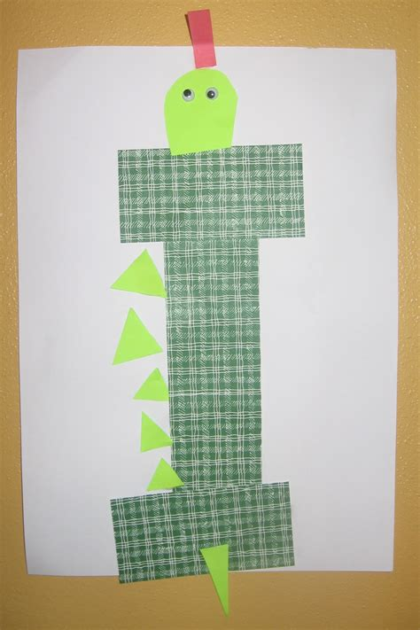letter i or i crafts preschool and kindergarten 603 | iguana craft for letter i