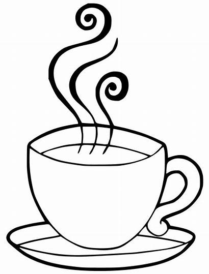 Chocolate Drawing Coffee Coloring Pages Templates Cafe