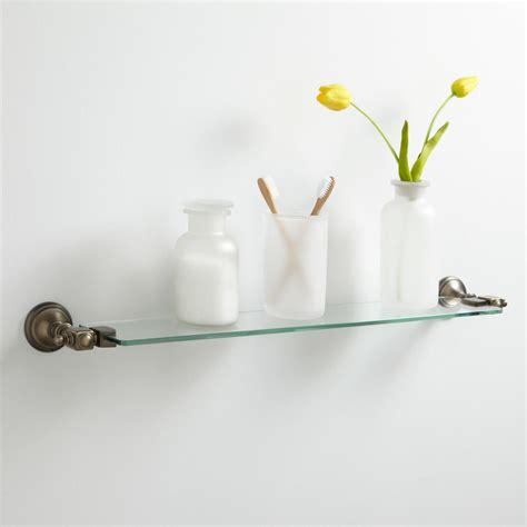 Vintage Tempered Glass Shelf Bathroom