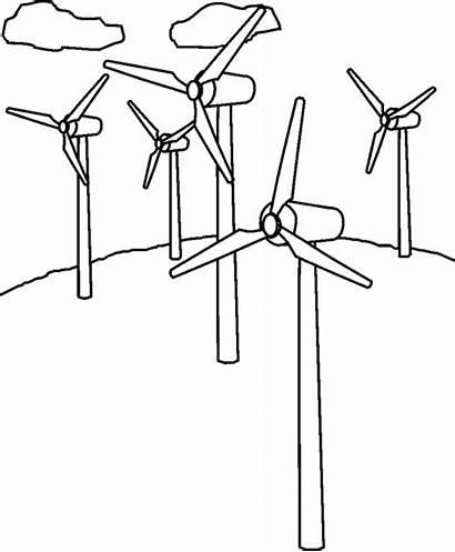 Wind Coloring Colorare Energia Turbine Disegno Eolica