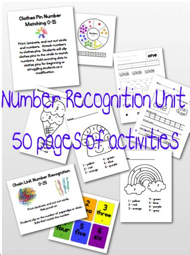 One, Two, Three Math Time! Kindergarten Number Recognition Unit