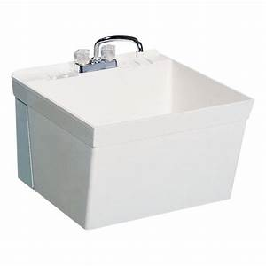 Shop Swanstone White Composite Laundry Sink at Lowes com