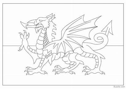Welsh Flag Coloring Dragon Pages Colouring Britain