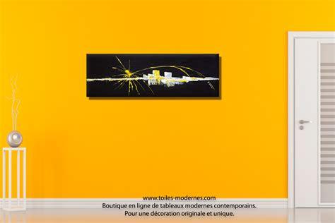 decoration chambre moderne tableau abstrait noir renouveau moderne