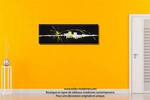 Tableau Abstrait noir Renouveau moderne