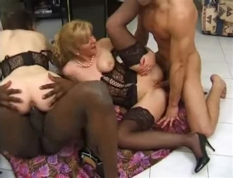 French Women In Sexy Lingerie Fucked In Foursome Group
