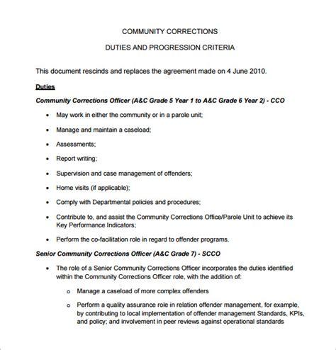 Officer Description For Resume by Correctional Officer Description