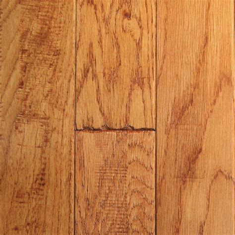 lowes gunstock flooring shop mullican flooring knob creek 4 in w prefinished oak hardwood flooring gunstock at lowes com