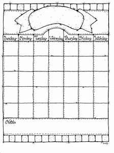 Blank Calendar Templates For Elementary School - Templates ...